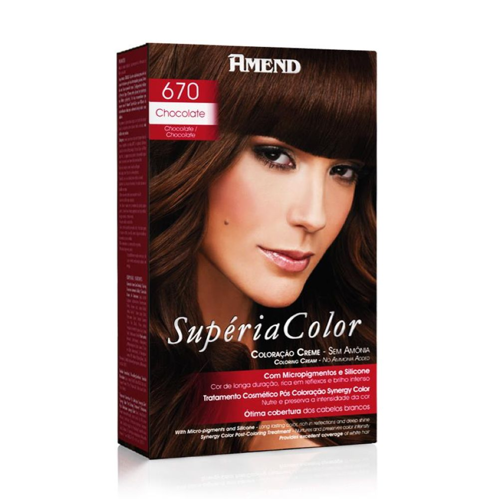 Tonalizante Amend Supéria Color Kit 670 Chocolate