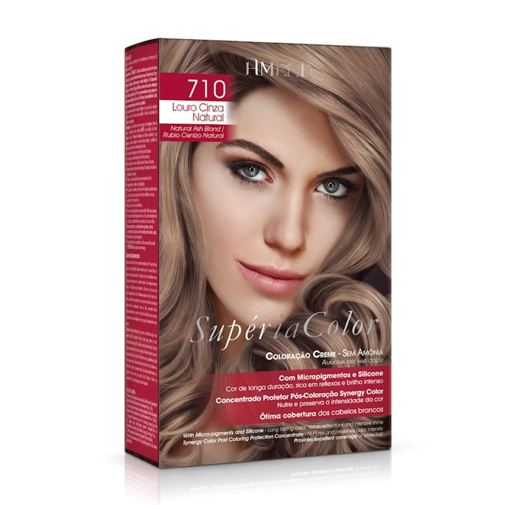 Tonalizante Amend Supéria Color Kit 710 Louro Cinza Natural