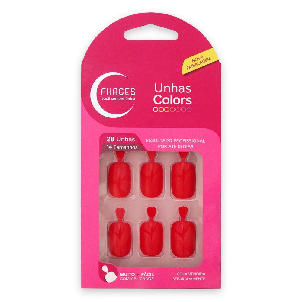 Unhas Fhaces Colors Vermelho Vivo