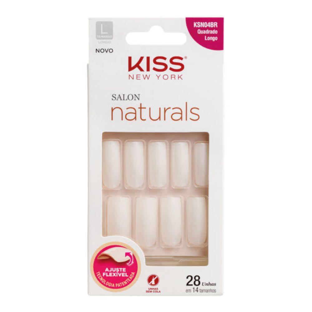 Unhas Kiss Quadrado Longo 28un
