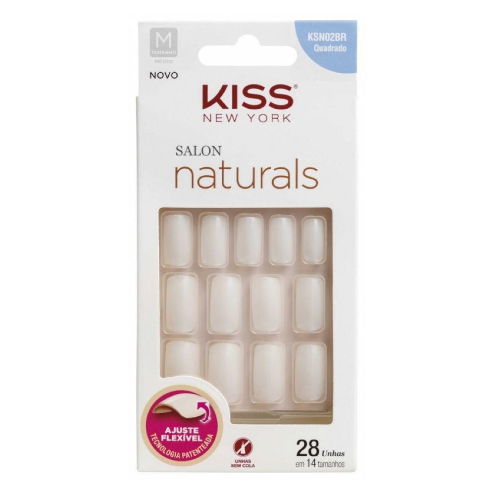 Unhas Kiss Quadrado Médio 28un