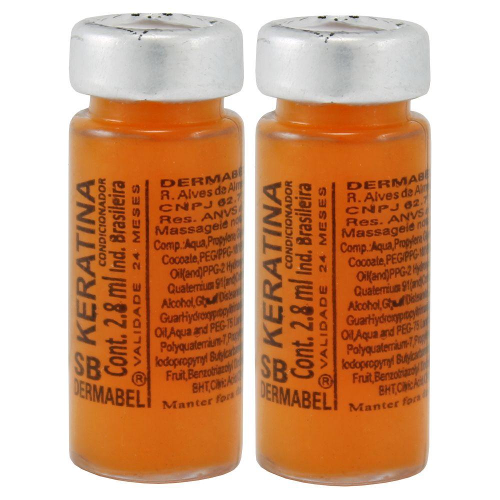 Vitamina Dermabel Keratina Ampola 2un