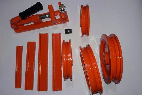 Kit Polia Canaleta Tubo Quadrado Retangular Dobradeira Tubo