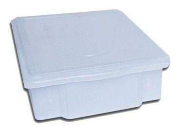 Caixa Plástica Branca Para Açogue C/ Tampa Supercron 07 Lts.