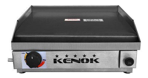 Chapa De Lanche A Gas Profissional Kenox 40x40cm