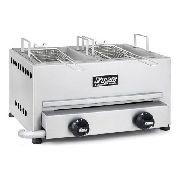 Fritadeira A Gás Com 2 Cubas E 2 Queimadores Fire