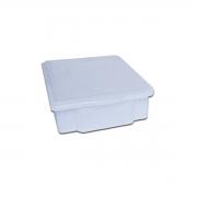 Caixa Plástica Branca Para Açogue C/ Tampa Supercron 15 Lts