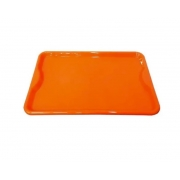 kit Bandeja Plástica 30 pçs na cor laranja 48x33