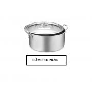 Panela Caçarola Industrial Alumínio Vigor 8,3 L 13,5x28cm