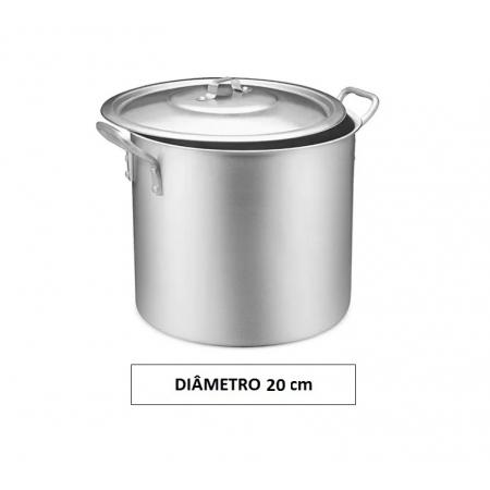 Panela CALDEIRÃO 20 Aluminio Vigor 6,5 Litros