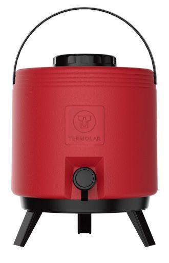 Botijão Térmico 8 Litros Vermelho