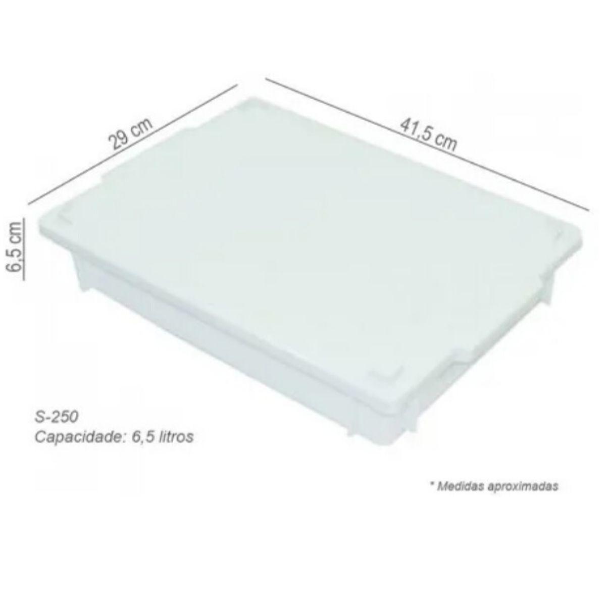 Caixa Plástica Branca Para Açogue C/ Tampa Supercron 6,5 Lts