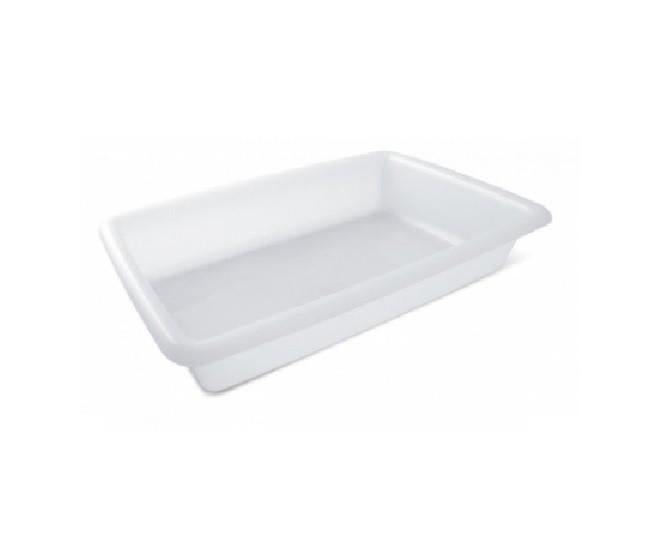 Caixa Plástica Branca Para Açogue S/ Tampa Plasvale 2,2 Lts.