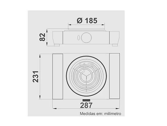 Fogão Elétrico   FEB 1 - Branco   Cod. 127 V  2191 / 220 V 2192