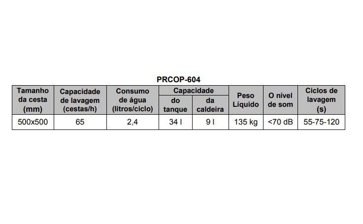 Lava Louças  PRCOP 604