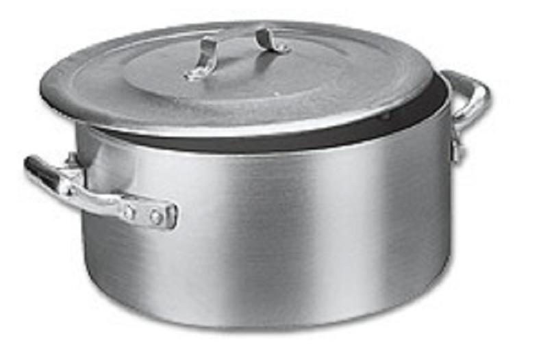 Panela Caçarola Industrial Alumínio Vigor 31,5 L 20x45cm