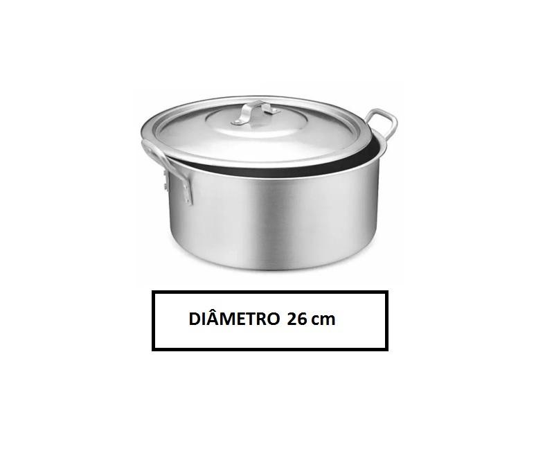 Panela Caçarola Industrial Alumínio Vigor 6,8 L 13x26cm