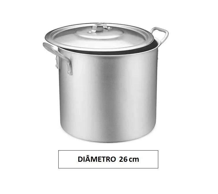 Panela CALDEIRÃO 26 Aluminio Vigor 12,7 Litros