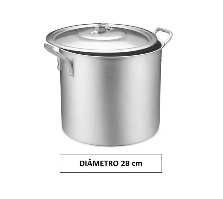 Panela CALDEIRÃO 28 Aluminio Vigor 15,3 Litros