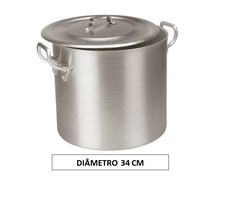 Panela CALDEIRÃO 34 Aluminio Vigor 27 Litros