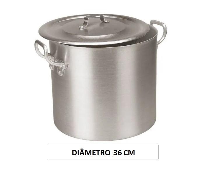 Panela CALDEIRÃO 36 Aluminio Vigor 32,5 Litros