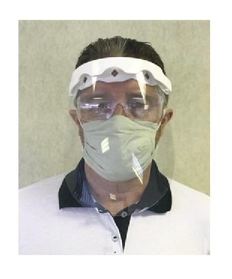 Protetor Facial com viseira pp com visor retrátil