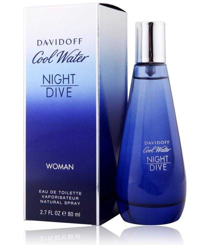 Cool Water Night Dive Woman Davidoff Eau de Toilette Perfume Feminino