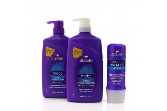 Kit Aussie - Shampoo e Condicionador Moist 865ml ml + Mascara Moist 236 ml