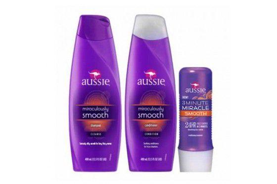 Kit Aussie - Shampoo e Condicionador Smooth 400 ml + Mascara Smooth 236 ml
