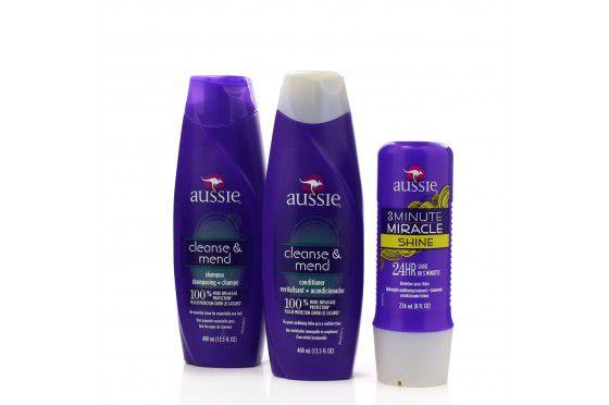Kit Aussie Shine - Shampoo 400 ml + Condicionador 400 ml + Mascara 236 ml