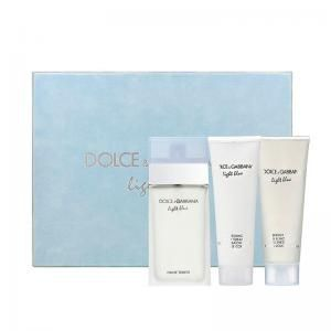Kit Dolce & Gabbana Light Blue Feminino - Eau de Toilette - 100ml + Creme Corporal 100ml + Gel de Banho 100ml