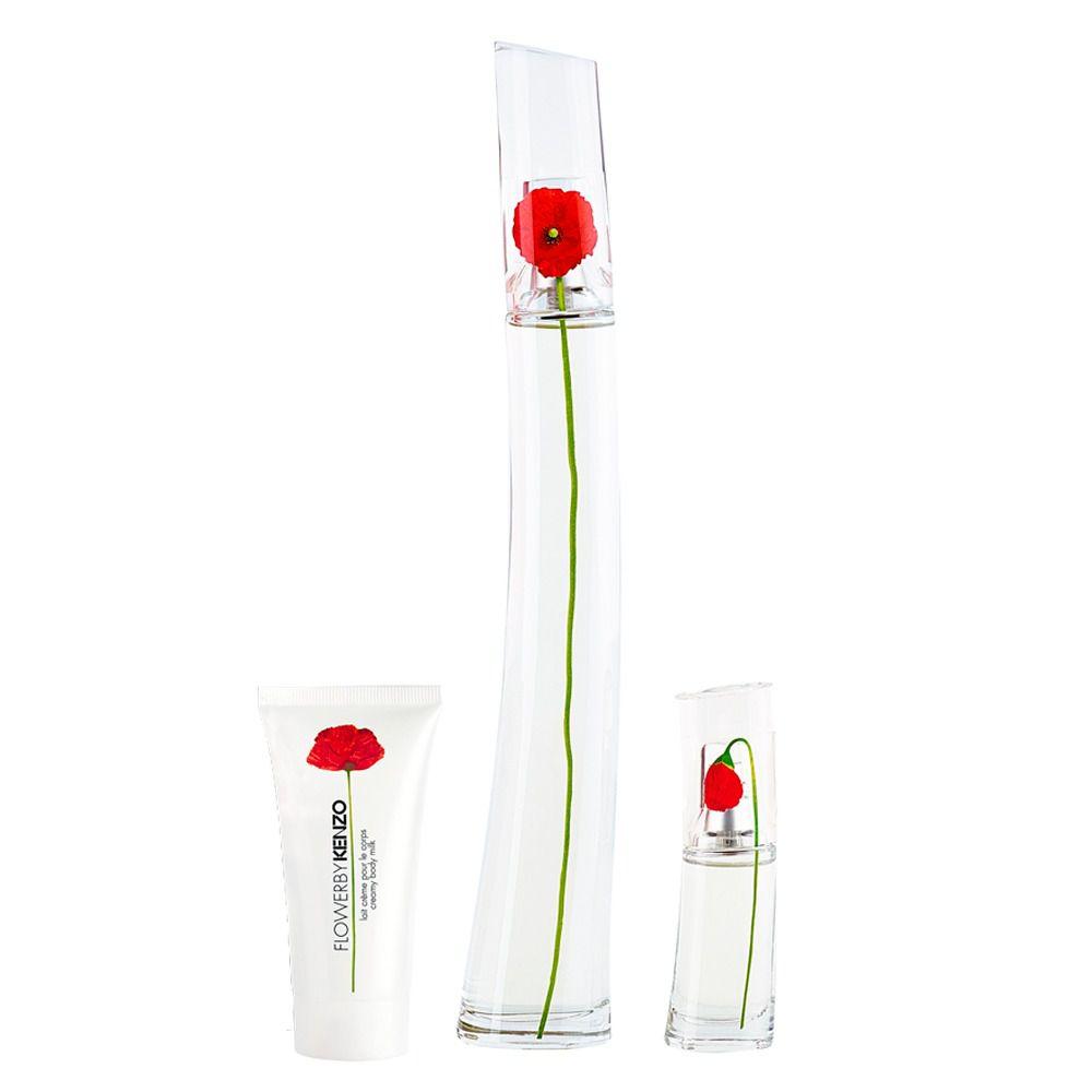 Kit Kenzo Flower - Eau de Parfum - 100ml + 15ml + Loção Corporal 50ml