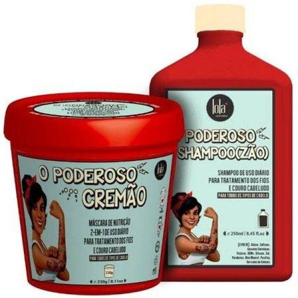 Kit Lola Cosmetics O Poderoso Shampoozão + O Poderoso Cremão
