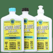 Kit Lola Cosmetics Ondulados 3 Produtos (Shampoo+Condicionador+Creme)