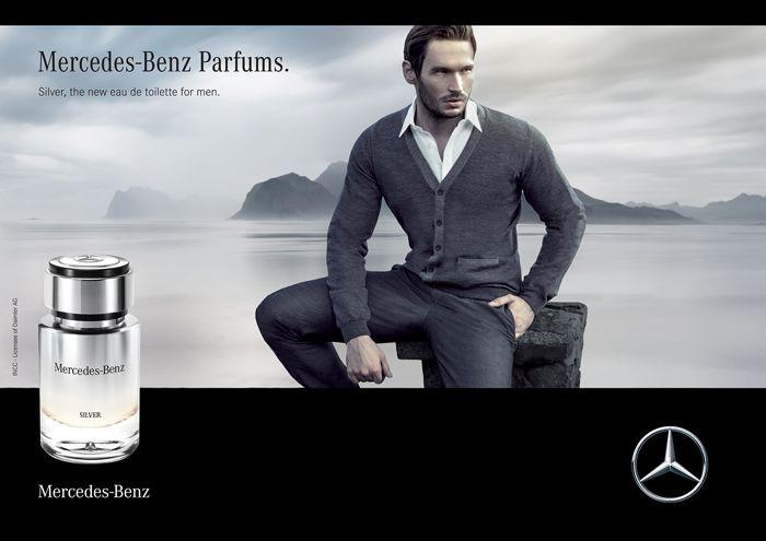 Silver Mercedes Benz Eau de Toilette Perfume Masculino