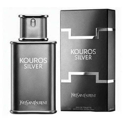 Kouros Silver Yves Saint Laurent Eau de Toilette Perfume Masculino