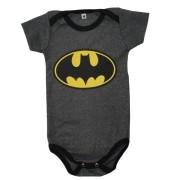 Body Batman preto Bebê