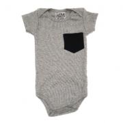 Body Bolso Lateral Preto Bebê