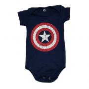 Body Capitão América Bebê