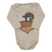 Body Esquilo Manga Longa Bebê