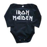 Body Iron Maiden Manga Longa Bebê