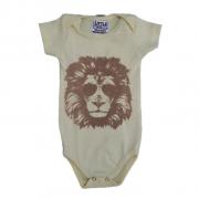 Body Lion Amarelo Verão Bebê