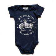 Body Moto Marinho Bebê