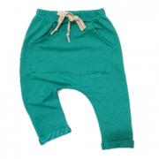 Calça Bolso Canguru Moletinho Verde Tiffany