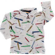 Camisa Polo Colorê Manga Longa em Malha