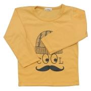 Camiseta Cool Mostarda Manga Longa