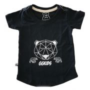 Camiseta Long Urso Geometric