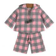 Conjunto Blusa e Calça Xadrez Rosa