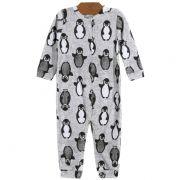 Macacão Longo Pinguins Mescla Bebê