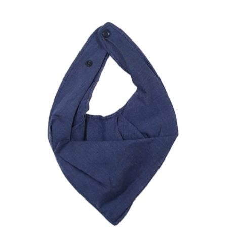 Babador Bandana Azul Jeans